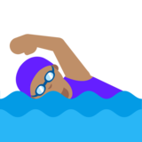 Woman Swimming: Medium Skin Tone on Google Android 7.1
