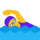 Woman Swimming on Google Android 7.1
