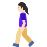 Woman Walking: Light Skin Tone on Google Android 7.1