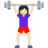 Woman Lifting Weights: Light Skin Tone on Google Android 7.1