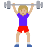 Woman Lifting Weights: Medium-Light Skin Tone on Google Android 7.1