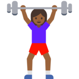 Woman Lifting Weights: Medium-Dark Skin Tone on Google Android 7.1