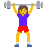 Woman Lifting Weights on Google Android 7.1