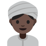 Woman Wearing Turban: Dark Skin Tone on Google Android 7.1