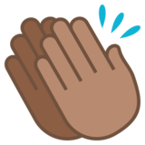 Clapping Hands: Medium Skin Tone on JoyPixels 5.5