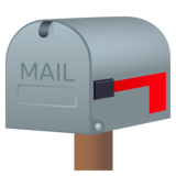 Closed Mailbox with Lowered Flag on JoyPixels 5.5