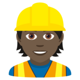 Construction Worker: Dark Skin Tone on JoyPixels 5.5