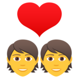 Couple with Heart on JoyPixels 5.5