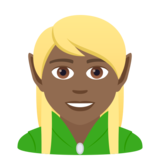 Elf: Medium-Dark Skin Tone on JoyPixels 5.5