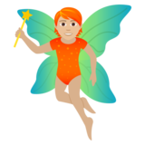 Fairy: Medium-Light Skin Tone on JoyPixels 5.5