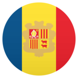 Flag: Andorra on JoyPixels 5.5