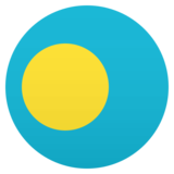 Flag: Palau on JoyPixels 5.5
