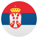 Flag: Serbia on JoyPixels 5.5