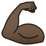 Flexed Biceps: Dark Skin Tone on JoyPixels 5.5