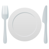 Fork and Knife with Plate on JoyPixels 5.5