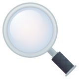 Magnifying Glass Tilted Left on JoyPixels 5.5