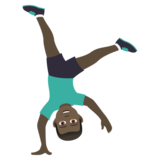 Man Cartwheeling: Dark Skin Tone on JoyPixels 5.5