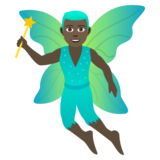 Man Fairy: Dark Skin Tone on JoyPixels 5.5