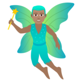 Man Fairy: Medium Skin Tone on JoyPixels 5.5