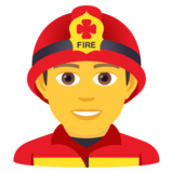 Man Firefighter on JoyPixels 5.5
