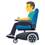 Man in Motorized Wheelchair on JoyPixels 5.5