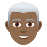 Man: Medium-Dark Skin Tone, White Hair on JoyPixels 5.5