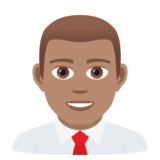 Man Office Worker: Medium Skin Tone on JoyPixels 5.5