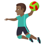 Man Playing Handball: Medium-Dark Skin Tone on JoyPixels 5.5