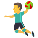 Man Playing Handball on JoyPixels 5.5