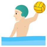 Man Playing Water Polo: Light Skin Tone on JoyPixels 5.5