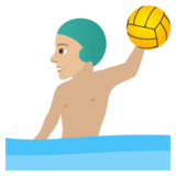 Man Playing Water Polo: Medium-Light Skin Tone on JoyPixels 5.5