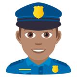 Man Police Officer: Medium Skin Tone on JoyPixels 5.5