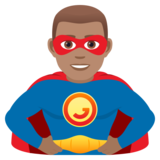 Man Superhero: Medium Skin Tone on JoyPixels 5.5