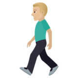 Man Walking: Medium-Light Skin Tone on JoyPixels 5.5