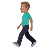 Man Walking: Medium Skin Tone on JoyPixels 5.5