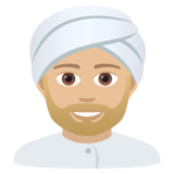 Man Wearing Turban: Medium-Light Skin Tone on JoyPixels 5.5