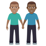Men Holding Hands: Medium Skin Tone, Medium-Dark Skin Tone on JoyPixels 5.5