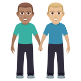 Men Holding Hands: Medium Skin Tone, Medium-Light Skin Tone on JoyPixels 5.5
