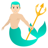 Merman: Light Skin Tone on JoyPixels 5.5