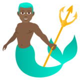Merman: Medium-Dark Skin Tone on JoyPixels 5.5