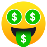 Money-Mouth Face on JoyPixels 5.5