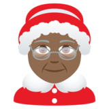 Mrs. Claus: Medium-Dark Skin Tone on JoyPixels 5.5