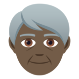 Older Person: Dark Skin Tone on JoyPixels 5.5