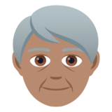 Older Person: Medium Skin Tone on JoyPixels 5.5