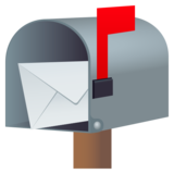 Open Mailbox with Raised Flag on JoyPixels 5.5