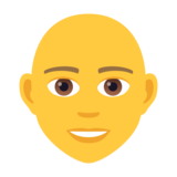 Person: Bald on JoyPixels 5.5