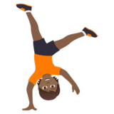 Person Cartwheeling: Medium-Dark Skin Tone on JoyPixels 5.5