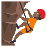 Person Climbing: Medium-Dark Skin Tone on JoyPixels 5.5