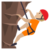 Person Climbing: Medium-Light Skin Tone on JoyPixels 5.5