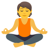 Person in Lotus Position on JoyPixels 5.5